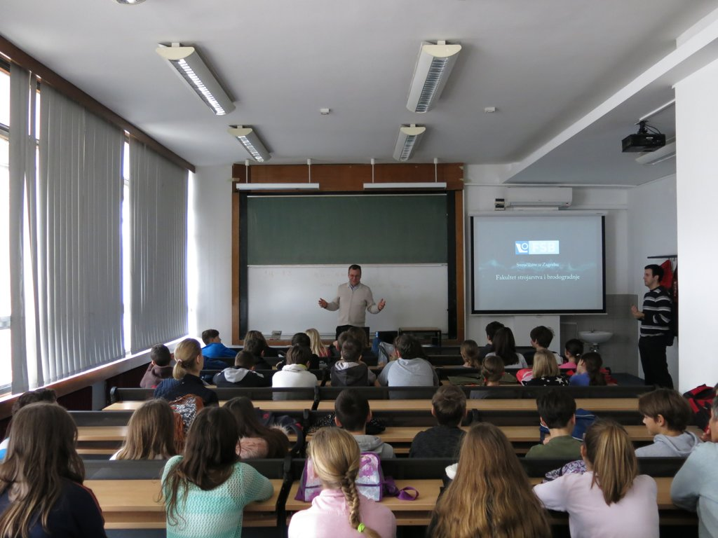 ... Schools Visited The Faculty Of Mechanical Engineering And Naval  Architecture At The University Of Zagreb, Accompanied By Their  Class Teachers. Ideas
